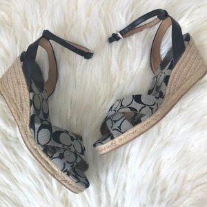 Coach signature henley espadrille wedge sandals